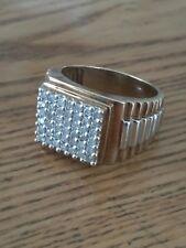 MENS 9ct GOLD DIAMOND RING 1ct