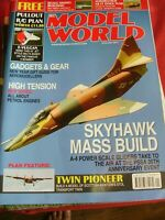 "MODEL AIRCRAFT RCMW RC MODEL WORLD JANUARY 2017 E-VULCAN 42"" JET PLAN SKYHAWK"