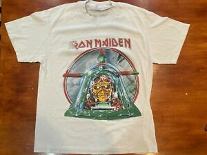 Iron Maiden T-Shirt Aces High graphic - Size Large - vintage, rare 1984, used