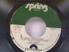 "PAUL EVANS ""HELLO THIS IS JOANNIE / LULLABYE TISSUE PAPER CO"" 45"