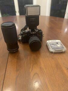 Vintage Minolta X-700 MPS SLR 35mm Film Camera,2 Lens's,Minolta Auto 360px Flash