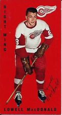 Autographed 1994 Parkhurst Tall Boy Lowell MacDonald Card #60 Detroit  Red Wings