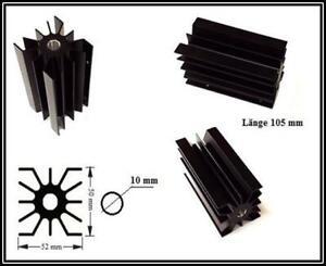 Fischer Kühlkörper Schwarz eloxiert Länge 105 mm B x H 52 x 50 mm 1 Stück