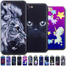 Varnish Embossed Back Painted TPU Case Cover Cute Soft Skin For Apple iPhone 7/8