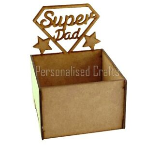 Fathers Day Super Dad Gift Hamper Chocolate Treat Box Holds Chocolate & Sweets