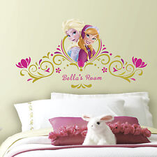Disney FROZEN Personalized Headboard WALL STICKERS NEW Princess ELSA ANNA Decals