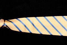 "Mens CHARLES TYRWHITT Tie, Sunwashed Yellow w Lake Blue Striped Silk 3 3/4"""