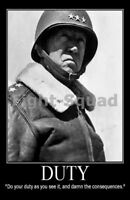 WW2 Picture Photo General George Patton quote about a good duty 2158