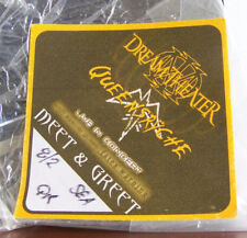 Dream Theater Queensryche 8/2/2003 Meet Greet Backstage Pass Seattle Memorabilia