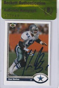 KEN NORTON Signed 1991 UPPER DECK Card #387 w/ Beckett Authenticity Seal