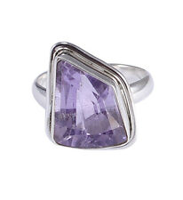 Amethyst 925 Sterling Silver Ring Size 6.5 Jewelry NY-B1417
