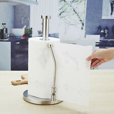 Stainless Steel Paper Towel Holder Rack Stand Counter Top Kitchen Bathroom P9E8