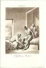 Stampa antica SAN GALLICANO Martire Bigioli 1839 Old antique print