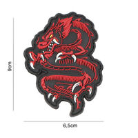 morale patch 3D PVC Samurai Dragon RED  5090 airsoft