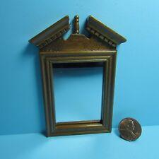 Dollhouse Miniature Fancy Wood Wall Mirror with Walnut Frame T6309