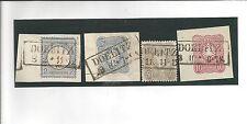 Pr Vor / DOELITZ Ra2 auf Briefstück DR 5, Briefstück DR 34, DR 36 + GAA 10 Pf.