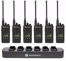 6 Motorola RDU4160d UHF Two-Way Radios & Bank Charger + Rebate for a Free Radio!