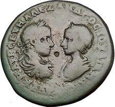 SEVERUS ALEXANDER and JULIA MAESA 222AD Marcianopolis Homonoia Roman Coin i50885