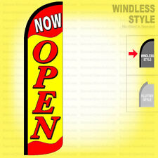 Now Open Windless Swooper Flag 25x115 Ft Feather Banner Sign Yf