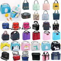 Insulated Lunch Bag Women Men Kids Thermos Cooler Tote Travel Picnic Food Box