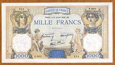 France, 1000 francs, 1938, P-90c, WWII Ch. UNC > Huge