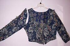 Renaissance Woman's Reversible Blue colors Bodice Corset, Wench Medieval 2XL