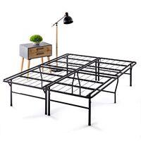 18'' SMART FOLDING EASY SETUP HEAVY DUTY Metal Platform with Storage, Dorm