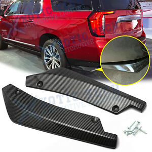 For GMC Yukon Carbon Fiber ABS Rear Bumper Splitter Diffuser Canard Buttom Decor