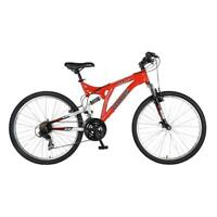 Red 18 in. Steel Frame Ranger Full Suspension Mountain Bike with 26 in. Wheels