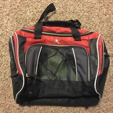 2012 JEEP Duffle Gym Travel Bag Red and Black Large Pockets Great Condition!