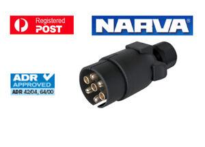 NARVA Trailer Connector 7 Pin Large Round Plastic Plug 82185BL
