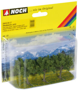 Noch N/Z Scale 25510 Green Fruit Trees 3-Pack *NEW *$0 SHIPPING
