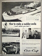 Chris-Craft 40-ft Express Cruiser Boat PRINT AD - 1948