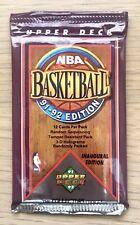 3x 1991 91-92 Upper Deck NBA Basketball Card Packs