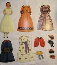 "Vintage 1993 B. Shackman Victorian Style 7.75"" Paper Doll & Dresses Hats Coats"