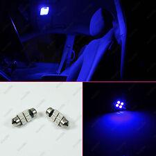 """2x Interior Map Dome Festoon 31mm Blue 1.25"""" 4-SMD 12V LED Light Bulbs DE3175"""