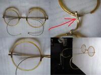 alte vergoldete Brille 30-40'er Jahre A Aurum Gold Lesebrille Zelluloid Zellhorn