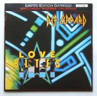 "DEF LEPPARD LOVE BITES 7"" GATEFOLD SLEEVE LYRIC BOOKLET LTD EDITION LEPG 5"