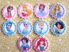10 x Lovely Disney Princess Flatback Planar Resin, Embellishment, Hair bow UK