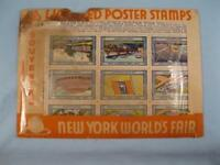 54 Vintage New York Worlds Fair 1939 Licensed Poster Souvenir Stamps (O) AS IS
