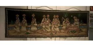 Large Mogul  Indian Vintage Painting Artwork Handmade Wall Hanging Tapestry