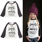 NEW Baby Girls Cotton T-Shirt Wonderful Girl Toddler Long Sleeve T-Shirt Blouse