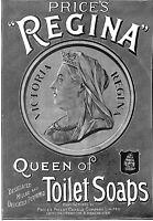 Queen Victoria.Advert.1897.Royalty.Soap advert.Price's Regina.Victoria.Queen.Art