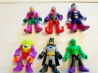 Imaginext Mixed Lot of 6 Batman DC Comics Figures: Batman Lex Luthor Harley Quin