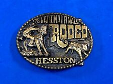 1978 NFR Rodeo Hesston Fourth edition belt buckle - 5th network telecast from Ok