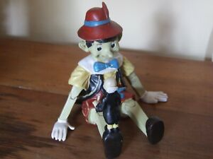Rare Pinocchio and Jiminy Cricket resin statue