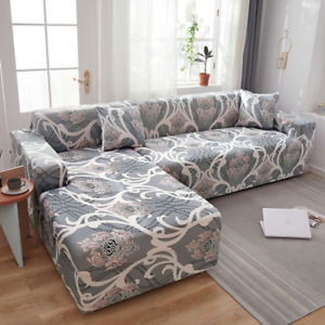L-shaped Sofa Covers Elastic Couch Cover Stretch Corner Chaise Longue Buy 2PCs