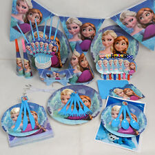 Disneys Frozen Anna Birthday Wedding Decoration Complete Tableware Kit - 16 Pcs