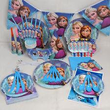 Disneys Frozen Anna Birthday Wedding Decoration Complete Tableware Kit - 16 Pcs