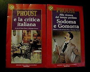 Proust SODOMA E GOMORRA / E LA CRITICA ITALIANA lotto 2 libri Newton
